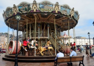 Charming carousel played beautiful music