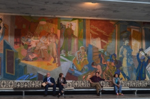Mural inside City Hall where the Nobel Peace Prize is given