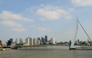 View of Rotterdam from the ship