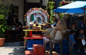 Olvera St  - LA has a strong Mexican influence