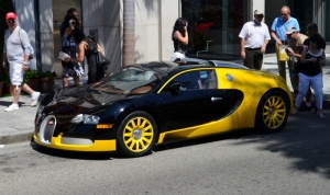 The Bugatti that all the men were drooling over...